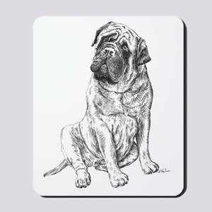 Mastiff Sitting Mousepad