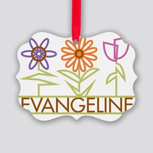 EVANGELINE-cute-flowers Picture Ornament