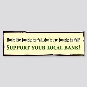 corporate SUPPORT YOUR BANK coffe Sticker (Bumper)