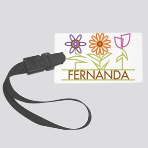 FERNANDA-cute-flowers Large Luggage Tag