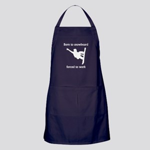Born To Snowboard Forced To Work Apron (dark)