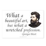 Bizet Music Quote Postcards (Pkg of 8)