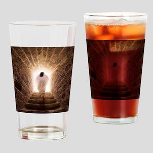 3.5x3.5_ornamentRound_JCresurrectio Drinking Glass