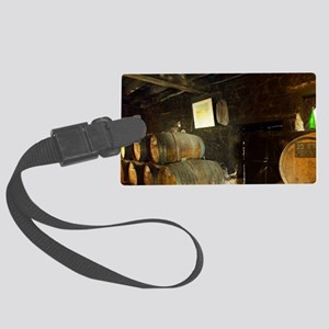 Barrels in the cellar of Patrick Large Luggage Tag
