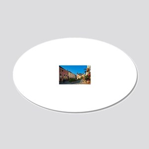 The town of Melk is a gatewa 20x12 Oval Wall Decal