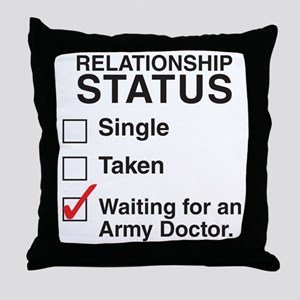 army_doctorCP Throw Pillow