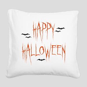happyhallo copy Square Canvas Pillow