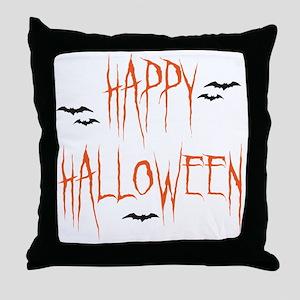 happyhallo copy Throw Pillow