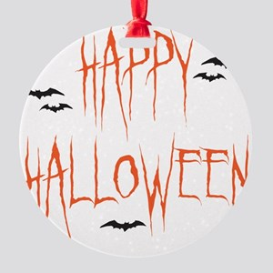 happyhallo copy Round Ornament