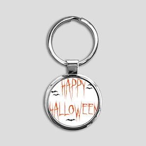 happyhallo copy Round Keychain