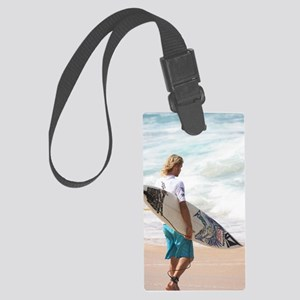 Going Surfing Large Luggage Tag