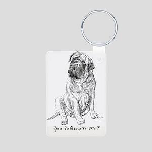 Mastiff You Talking To Me Aluminum Photo Keychain