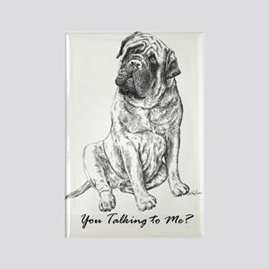 Mastiff You Talking To Me Rectangle Magnet