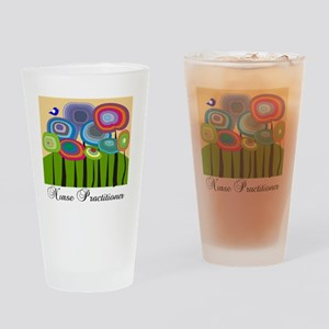 Nurse Practitioner ARTSY TREES Drinking Glass