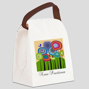 Nurse Practitioner ARTSY TREES Canvas Lunch Bag