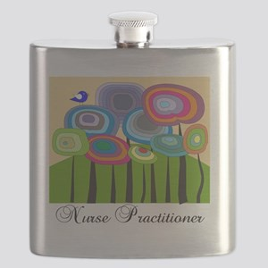 Nurse Practitioner ARTSY TREES Flask