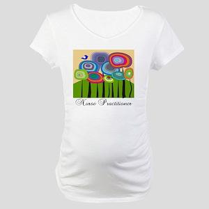 Nurse Practitioner ARTSY TREES Maternity T-Shirt
