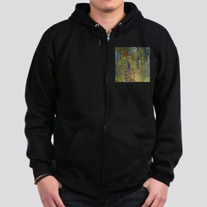 Klimt Crucifix Pillow Zip Hoodie (dark)