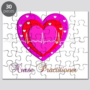Nurse Practitioner RED QRS Heart Puzzle
