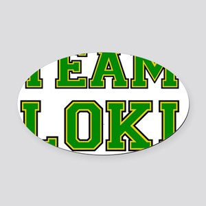 teamloki Oval Car Magnet