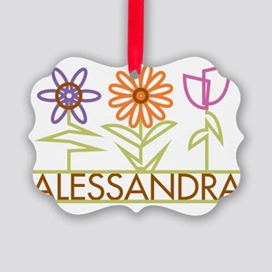 ALESSANDRA-cute-flowers Picture Ornament