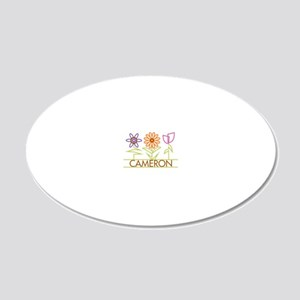 CAMERON-cute-flowers 20x12 Oval Wall Decal