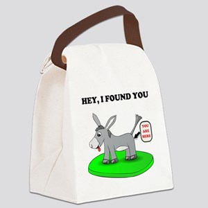 Head Up Ass Canvas Lunch Bag