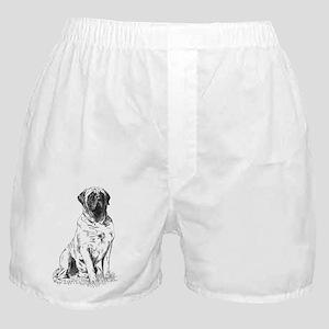 Mastiff Sitting Boxer Shorts