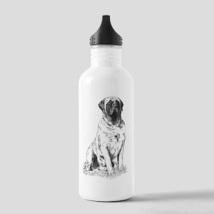 Mastiff Sitting Stainless Water Bottle 1.0L