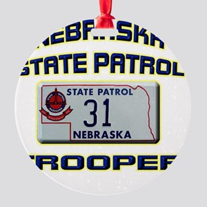 NEBRASKAPLATE Round Ornament