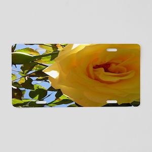 Yellow Rose of Texas Aluminum License Plate