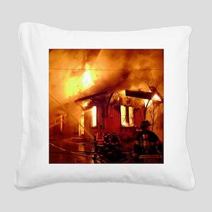 Fireman 09 Square Canvas Pillow