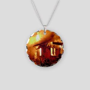 Fireman 09 Necklace Circle Charm
