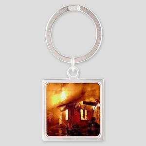 Fireman 09 Square Keychain