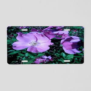 Lavendar Rose Aluminum License Plate