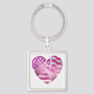 heart_cancer Square Keychain