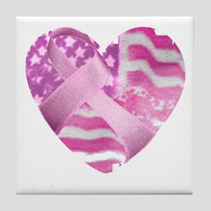 heart_cancer Tile Coaster