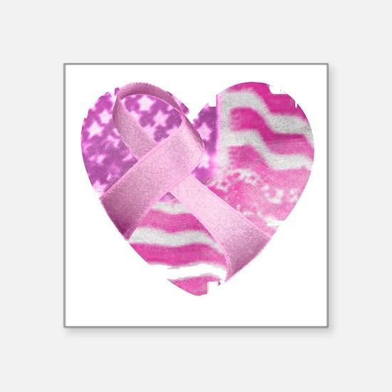 "heart_cancer Square Sticker 3"" x 3"""
