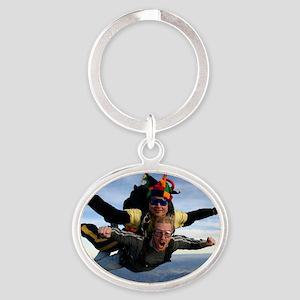 Skydive 12 Oval Keychain