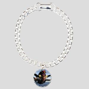 Skydive 12 Charm Bracelet, One Charm