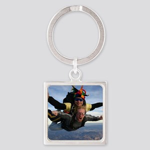 Skydive 12 Square Keychain