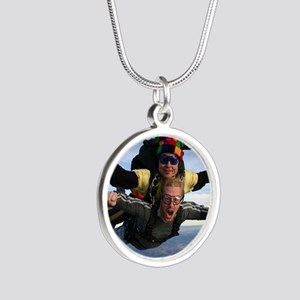 Skydive 12 Silver Round Necklace