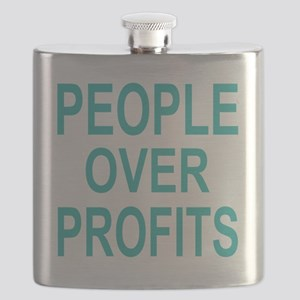 people over profits teal Flask