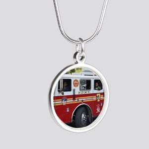 Fireman 06 Silver Round Necklace