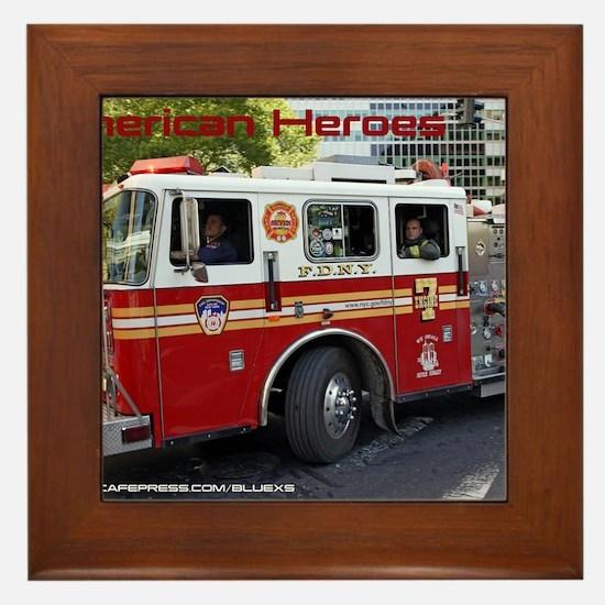 Fireman 06 Framed Tile