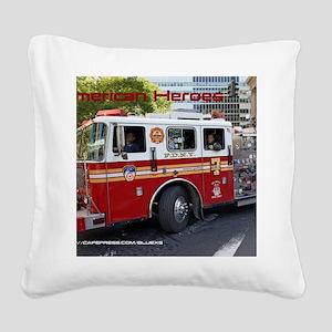 Fireman 06 Square Canvas Pillow