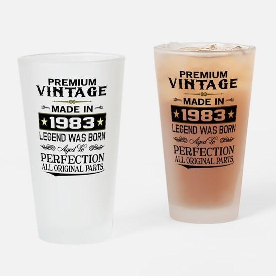 PREMIUM VINTAGE 1983 Drinking Glass