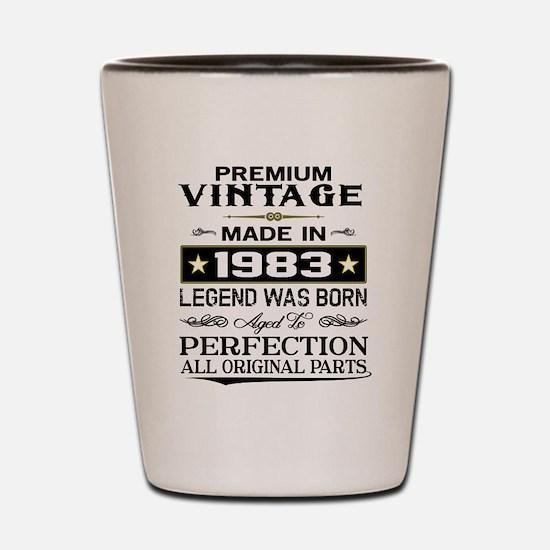 PREMIUM VINTAGE 1983 Shot Glass