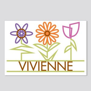 VIVIENNE-cute-flowers Postcards (Package of 8)