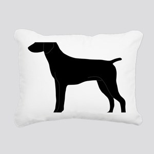 GSPBlack Rectangular Canvas Pillow